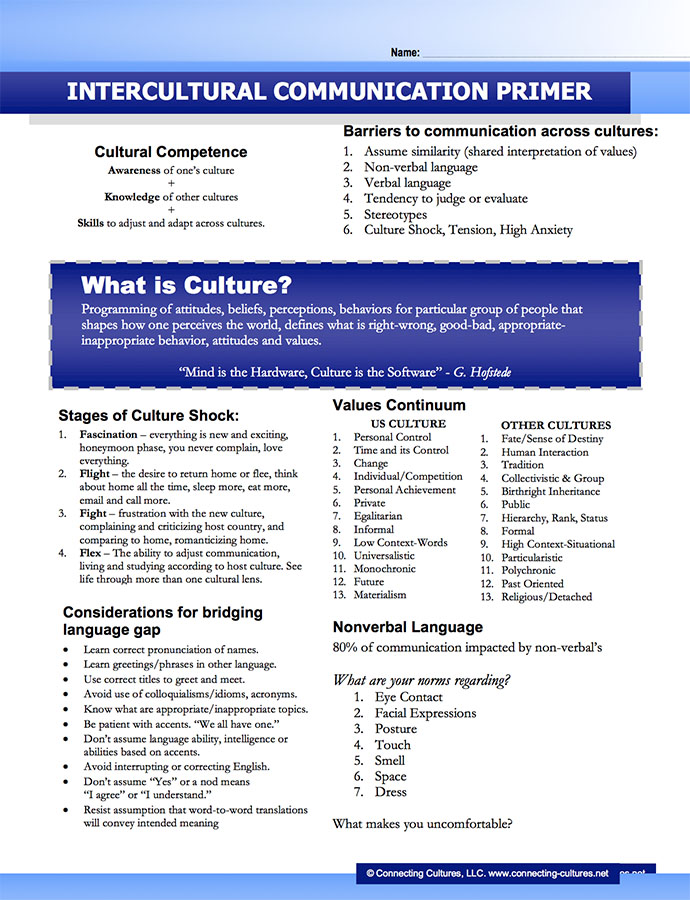 Connecting Cultures | tagline here